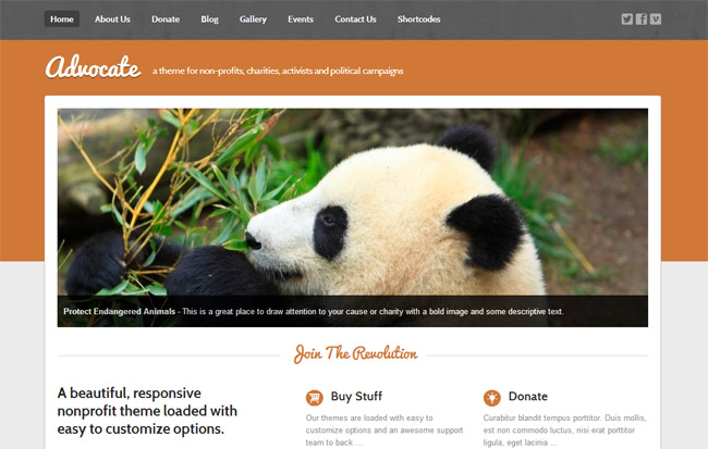 Advocate WordPress Theme