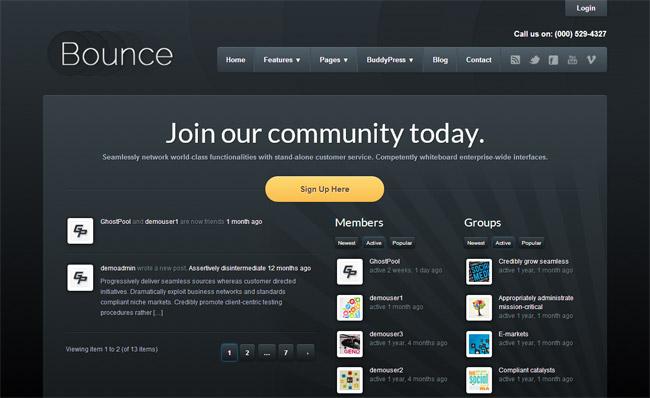 Bounce WordPress Theme