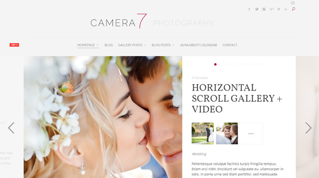 Camera 7 WordPress Theme