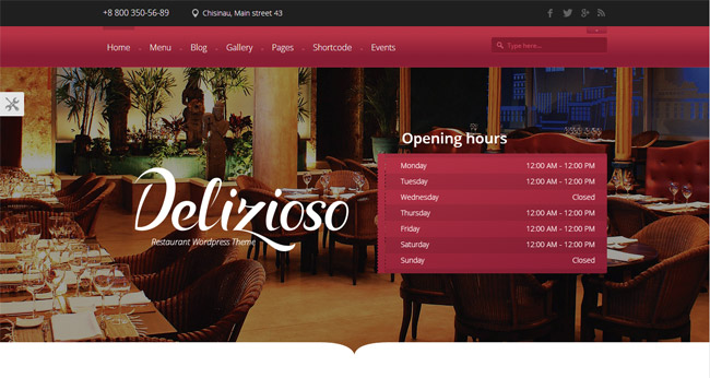 Delizioso WordPress Theme