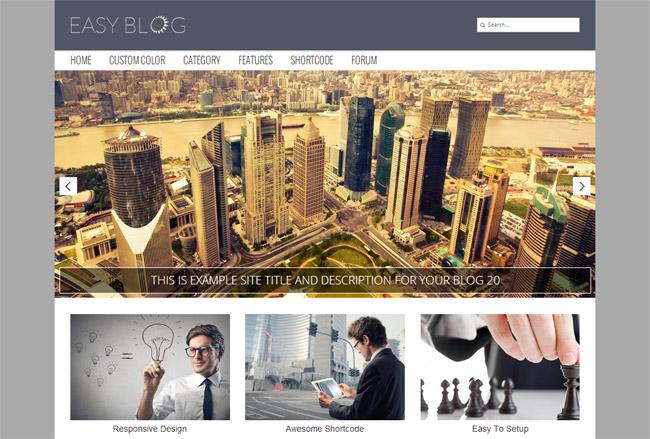 Easy Blog WordPress Theme