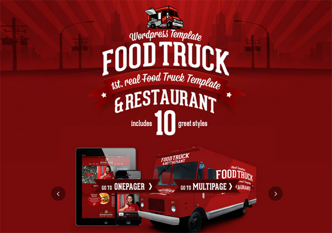 Food Truck WordPress Theme