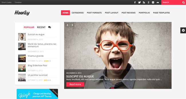 Hooray WordPress Theme