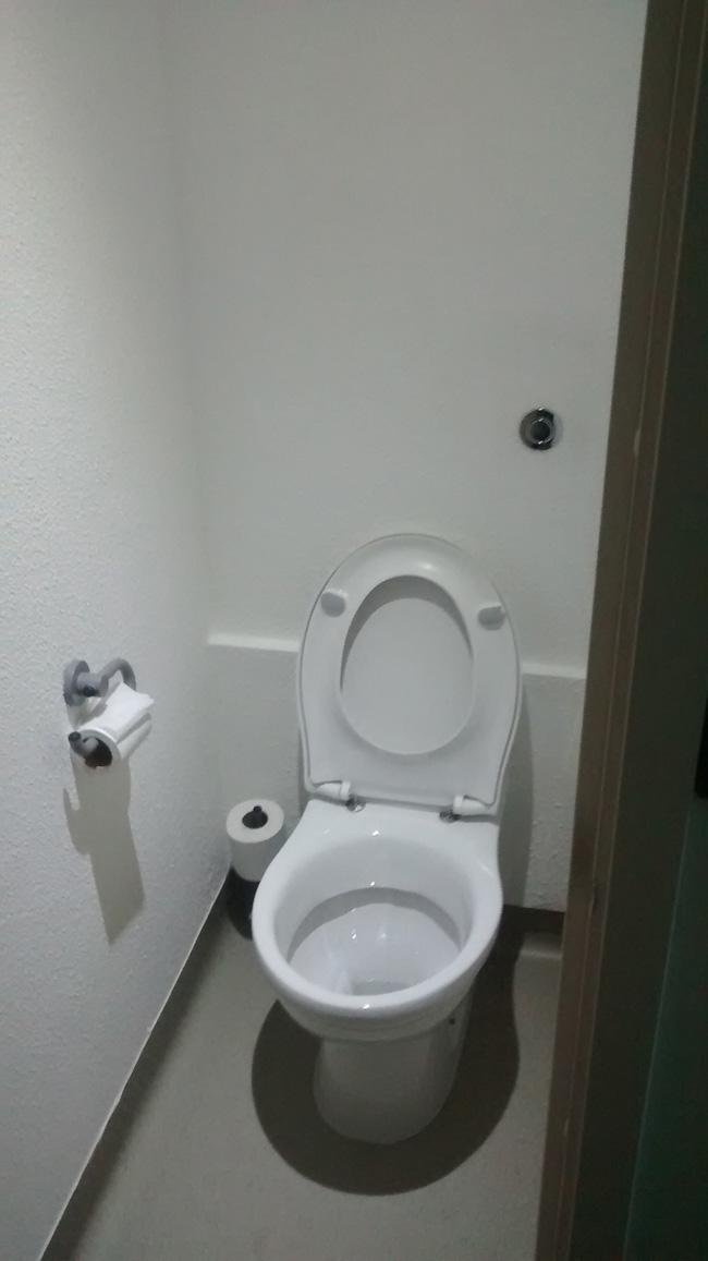 Ibis squashed toilet