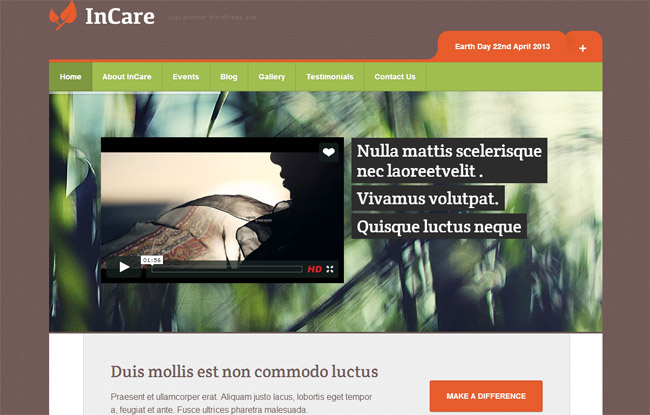 InCare WordPress Theme