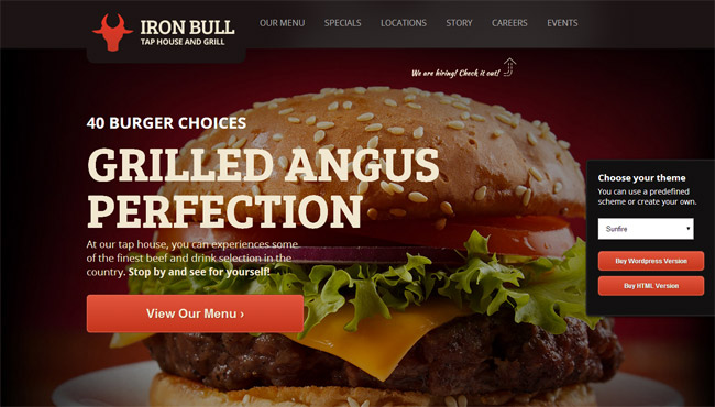 Iron Bull WordPress Theme
