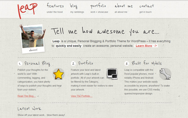 Leap WordPress Theme
