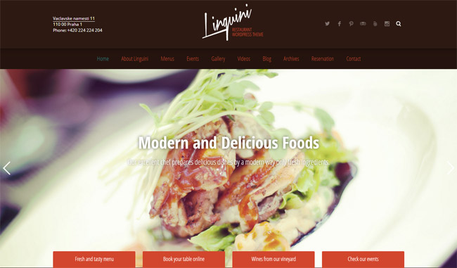 Linguini WordPress Theme