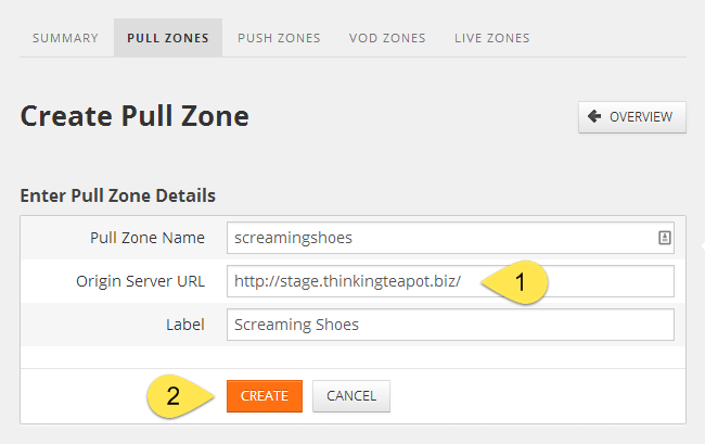 Configuring the Pull Zone