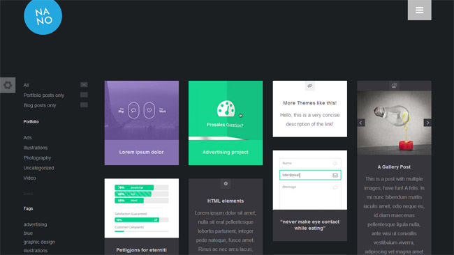 Nano WordPress Theme