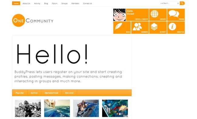 OneCommunity WordPress Theme