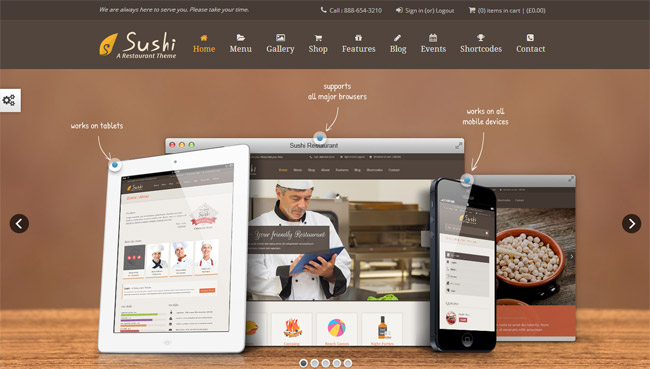 Sushi WordPress Theme