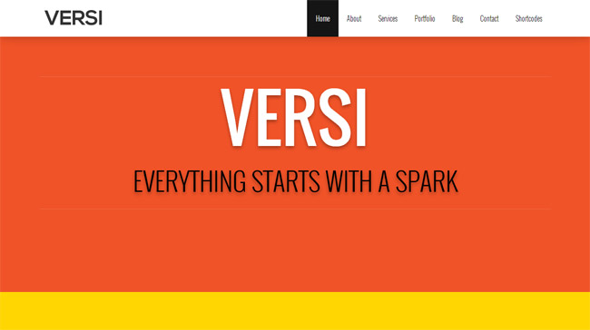 Versi WordPress Theme