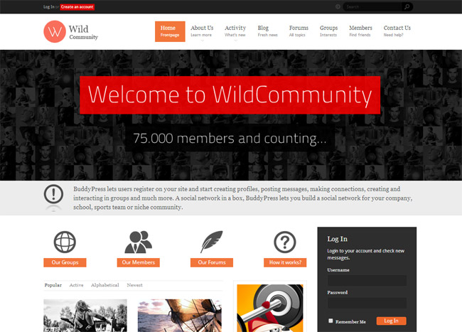 WildCommunity WordPress Theme