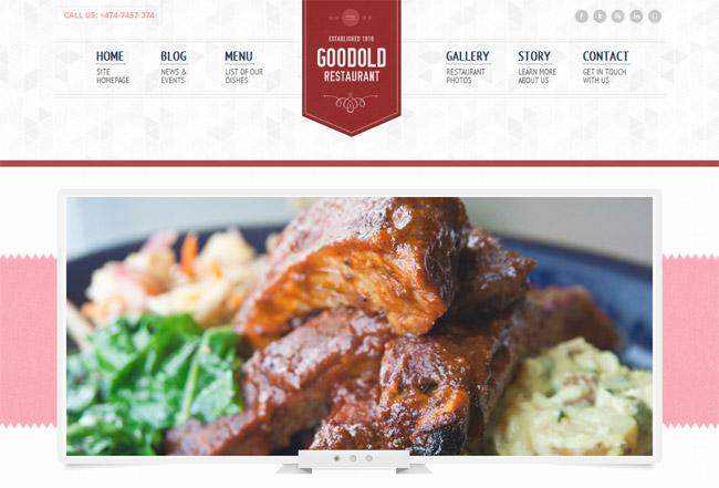 Goodold Restaurant WordPress Theme