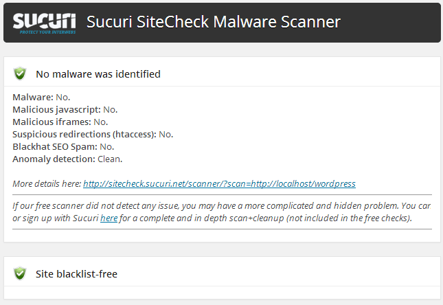 Sucuri Site Checker