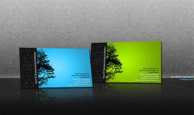 Business Card Wood