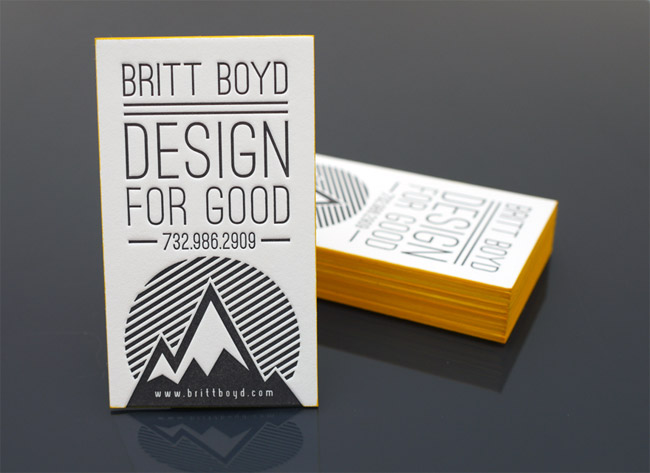 Design For Good Letterpress Business Cards