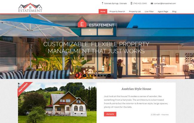 Estatement WordPress Theme