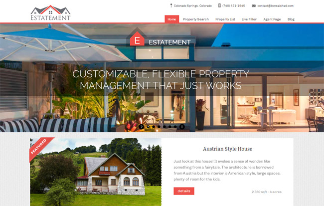 Estatement WordPress Theme