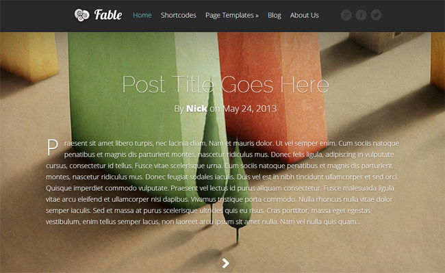 Fable WordPress Theme
