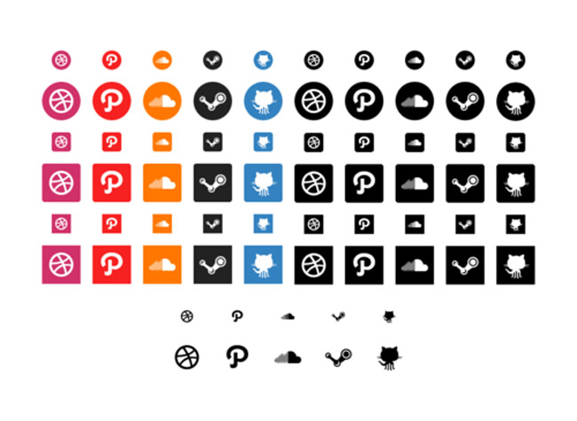 Over 1100 Social Icons