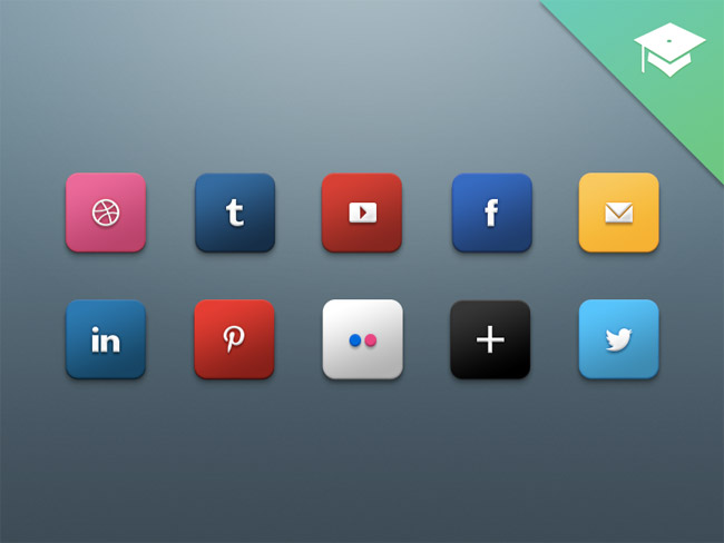 Social Media Icons by Harkable