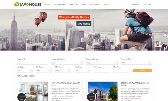 Javo House WordPress Theme