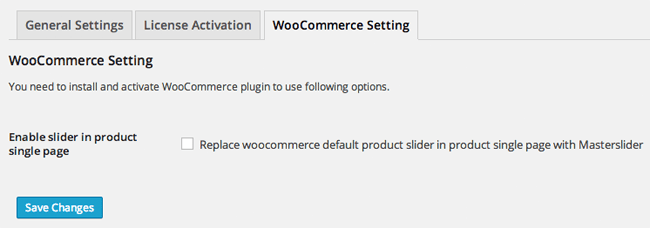 Master Slider WooCommerce Setting