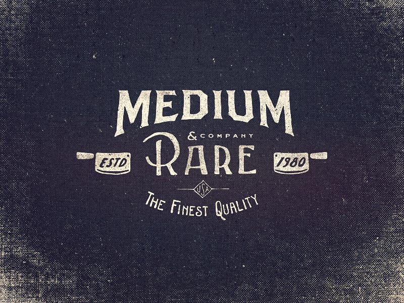 Medium Rare Wordmark Logo