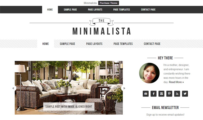 Minimalista WordPress Theme