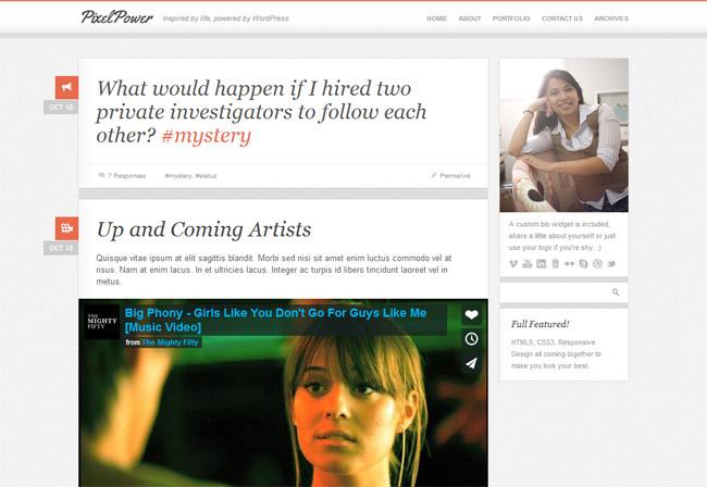 PixelPower WordPress Theme