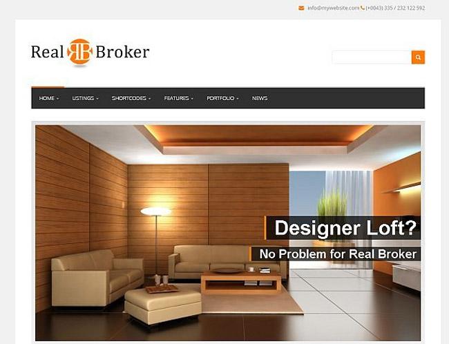 Realbroker WordPress Theme