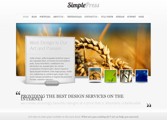 SimplePress WordPress Theme