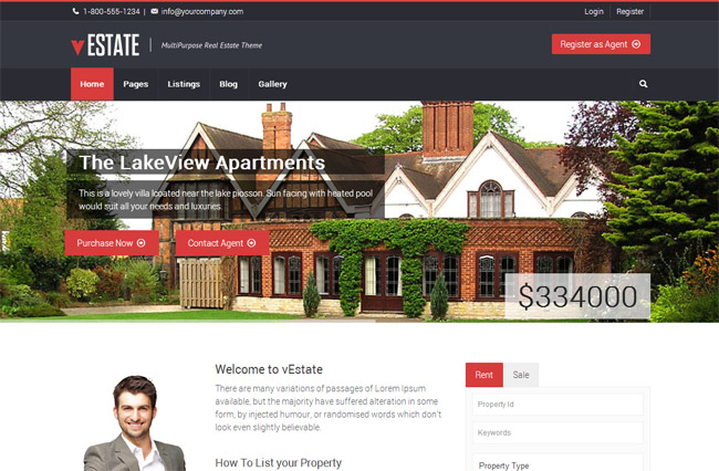 vEstate WordPress Theme