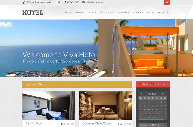 Viva Hotel WordPress Theme