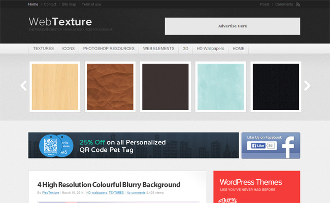 Web Texture Background Patterns