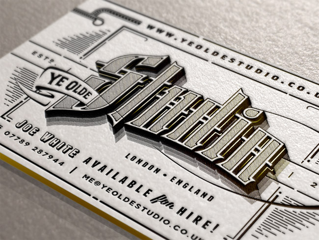 Ye Olde Studio Cards Business Card