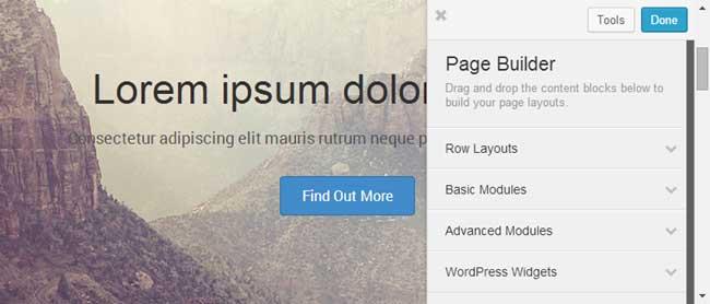 FastLine Page Builder for WordPress