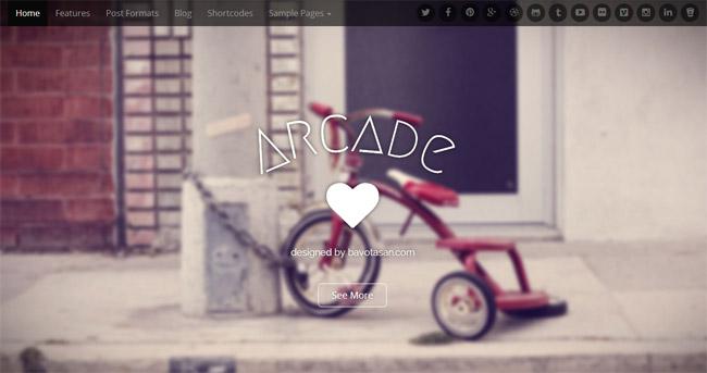 Arcade Free WordPress Theme