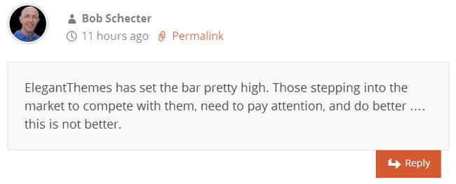 Bob Schecter's Comment