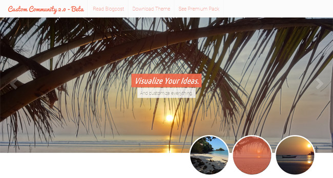 Custom Community Free WordPress Theme