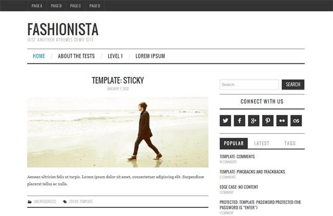 Fashionistas Free WordPress Theme