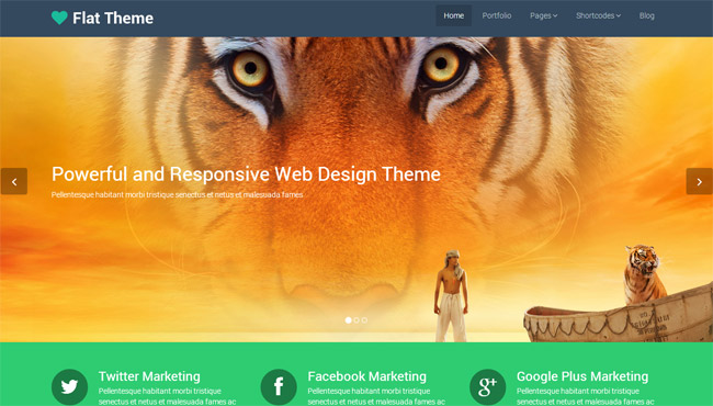 Flat Free WordPress Theme
