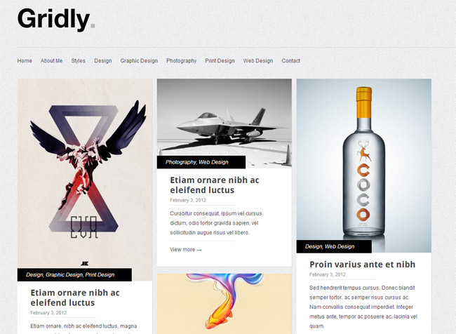 Gridly Free WordPress Theme