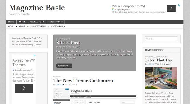 Magazine Basic Free WordPress Theme