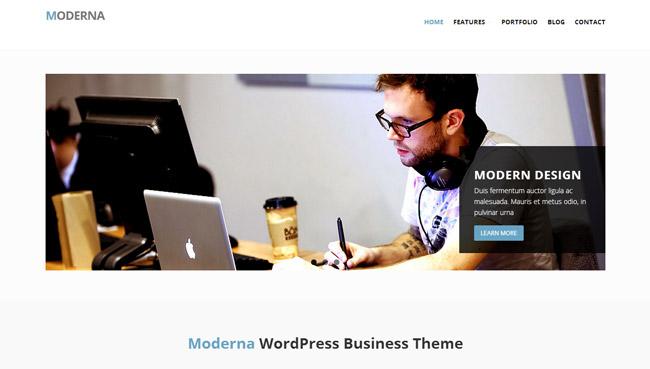 Moderna Free WordPress Theme