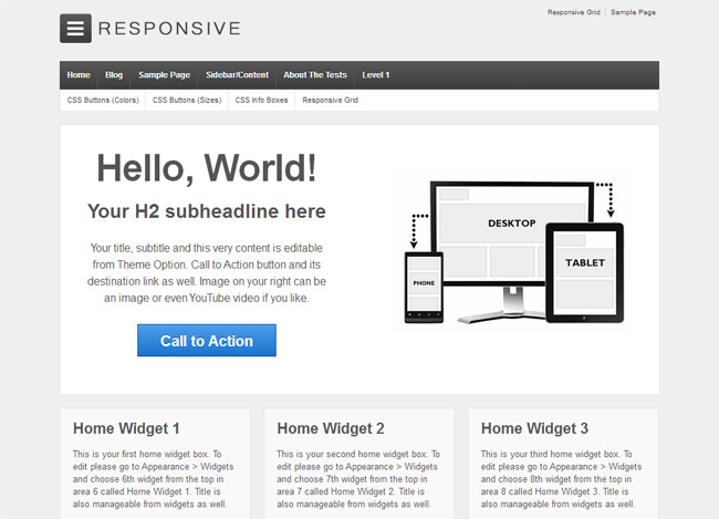 Responsive Free WordPress Theme