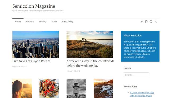 Semicolon Free WordPress Theme