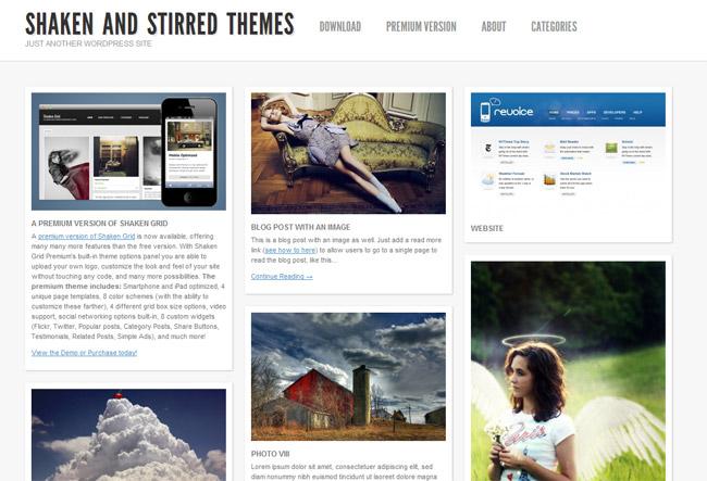 Shaken Grid WordPress Theme